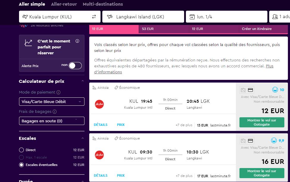 les comparateurs de vols proposent des compagnies low cost